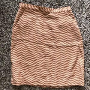 Burnt orange and cream skirt